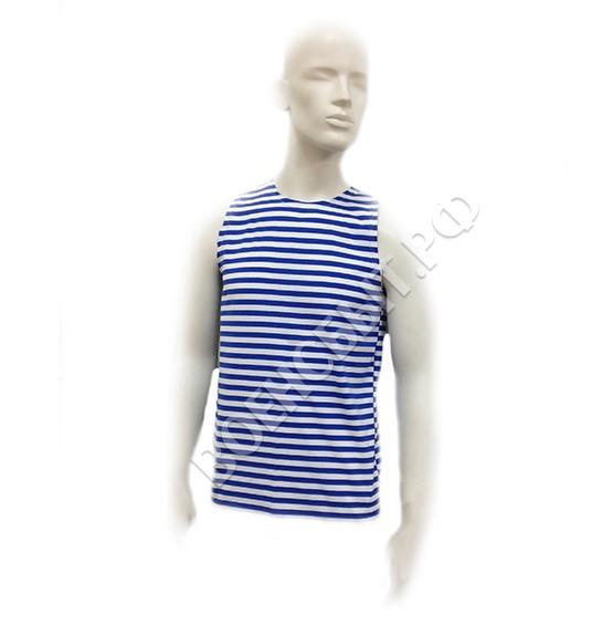Военторг - Тельняшка-майка, голубая полоса