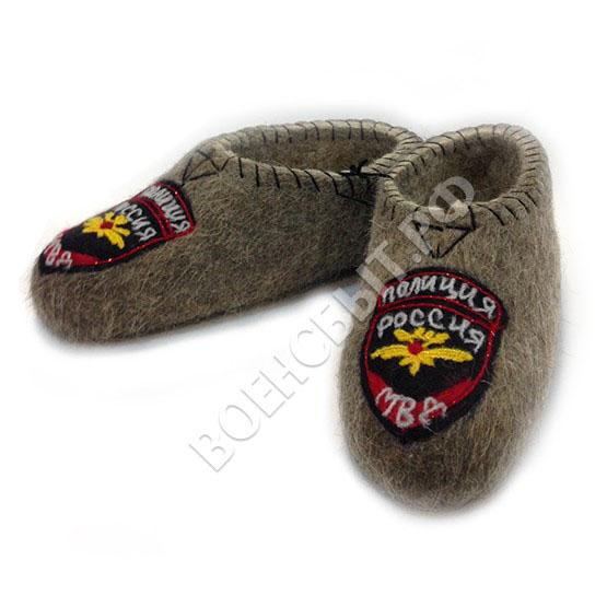 Военторг - Войлочные тапочки Полиция России